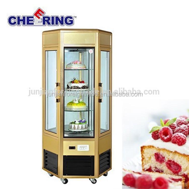 น้ำค้างแข็งฟรีตู้เย็นเชิงพาณิชย์ที่มีคุณภาพสูงแสดง/สำหรับเค้กตู้โชว์แสดงแสงกรณี