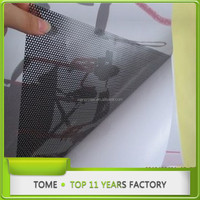 printable adhesive car wrap vinyl sticker roll/glass window film ,mesh film