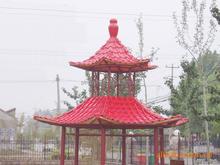 pvc plastic decor roofing tiles for villa pavilion roofing