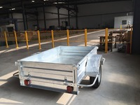 Large single axle trailer box utility trailer with original equipment manufacturer 7X 5ft