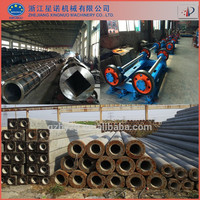 Complete concrete spun pile spining machine and pile mould