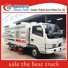 DongFeng diesel mini road sweeper truck and 4 brushes road cleaning vehicle for sale