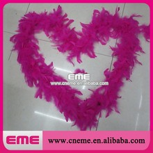 2015 New Fashion Pink Turkey Feather Boa For Carnival Decorations