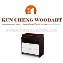 Vintage mid- siglo moderno rubio extremo de madera mesa mesita de noche/de moda blanco mesilla de noche