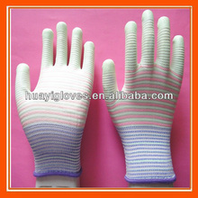 Pu palma guantes para ligero de trabajo