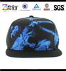Custom printed snapback hat/5 panel flat brim cap hat/wholesale baseball cap