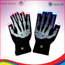 black LED gloves with colorful lighting for party favor