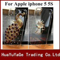Free shipping phone cases 3D DIY cover Luxury Crystal Clear Diamond Bling Case for Apple iphone 5 5S