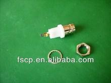 conector bnc hembra bulkhead receptáculo con