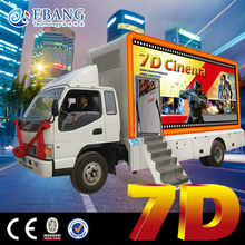 New investment x ride truck mobile 7d cinema movies simulator