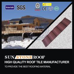 stone coated steel shingle / stone coated steel roof tile