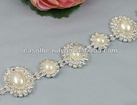 Round decorative handmade craft DIY fabric rhinestone trim seasofbeauty brand