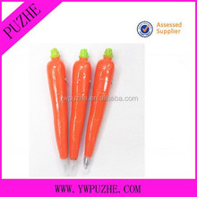 vegetable shape promotional ballpoint pen/carrot pen