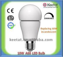 Dimmable 10W A19/G60 LED Light Bulb