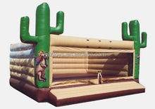 soccer Inflatable Bouncer , LZ-A1913 custom inflatable Bouncer moving cartoon