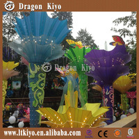 2015 new colorful flower solar lantern for amusement park
