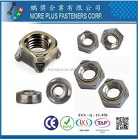 Taiwan Aluminum Stainless Steel Self Color DIN standard DIN 928 Square Weld Nuts