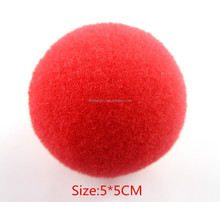Red sponge foam clown nose circus party costume accessory
