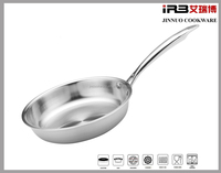 Triply Stainless Steel Aluminum core 304 Cookware Fry pan