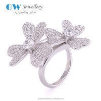 Love Flower 925 Sterling Silver Engagement Wedding Ring Moroccan Silver Ring Jewelry