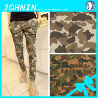fashion ladies full prints camouflage trouser, hot sell woman military camouflage clothing for lady in shaoxing china