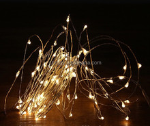 Christmas lighting plug/battery operated decorative indoor firefly string lights