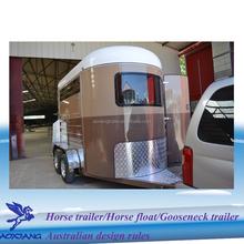 classic double horse fiberglass horse transport van trailers float