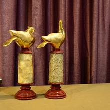 Venta al por mayor casa de la boda resina paloma mensajera venta