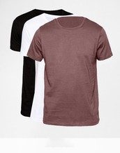 Fashion Men Slim Fit Blank T-Shirt With Crew Neck