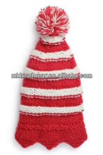 knitted baby christmas hat