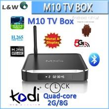 MXQ Amlogic S812 Quad Core Google andriod 5.1 Android Tv Box M10 2GB/8GB Kodi Bluetooth Dual-band Wifi 4k 2k support