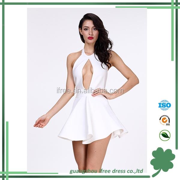 Cute girls mini dress sexy cutout backless girls bandage party dresses