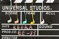 KeeKa EE-33 In-Ear headphone with MIC CUP Design Fashion HD stereo mobile phone headset colorful funny headphone