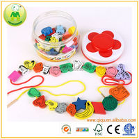 Chinese Supplier Girl Baby String Bead Kids Educational Toys