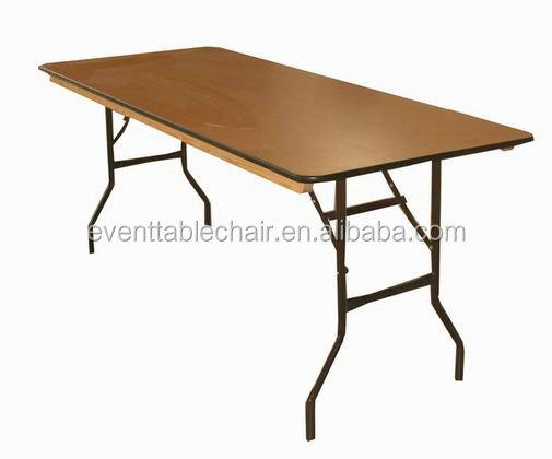 plegable de alta calidad de madera de comedor mesas del banquete al por mayor para la