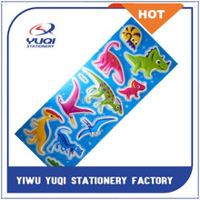 Lovely high quality puffy adhesive stickers with lovely animal design