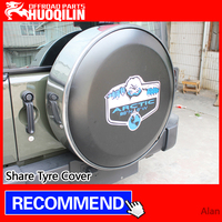 Share Tyre Cover for jeep wrangler spare tyre cover pu leather from Houqilin