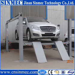 Sinmec CE-Approved 5500kg 4 post car lift,used hydraulic car lift low price for sale