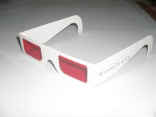 Fuchang Free logo printing cheap cardboard paper 3D glasses