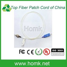 FC to SC 1m 0.9mm Simplex white Cable armoured Fiber Patch Cord