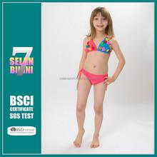Hot sale american beachwear cute models for children thong baby skirt girl nude kids micro thong bikini