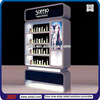 TSD-W012 skin care display stand,display rack for cosmetics,Custom brand name wooden cosmetic display cabinet