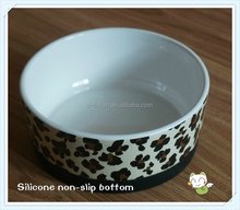 Ceramic Pet Bowl with Silicone Non-slip Bottom