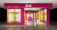 Colorful Barbie shop displays shop fittings