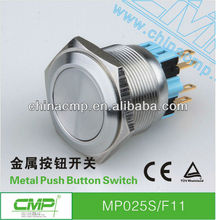 free samples export CMP 25mm Push Button Switch,Push Button momentary Switch, Flat Type Push Button Switch