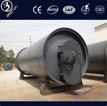 High oil yield used scrap tyres pyrolysis equipment tyre pyrolysis crude oil
