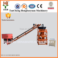 New Hot 2015 HBY2-10 high output stationary soil cement block machine