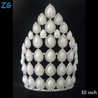 High Quality Pearl Tiaras Pearl Wedding Tiara wholesale pageant crowns princess crown for girls