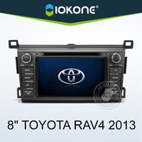 "2013 factory 8"" HD Touch screen double din car dvd player toyota rav4 with gps, TMC, camera, mic, dvb-t"