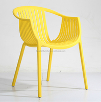 all PP material plastic coffee shop chair